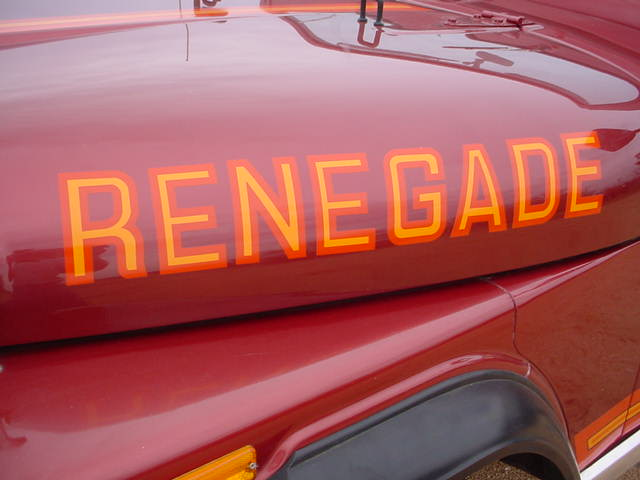 85-86 RENEGADE DECAL KIT!